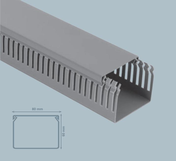 Изображение Кабель-канал Пaнельного типа 80*60 (серый)