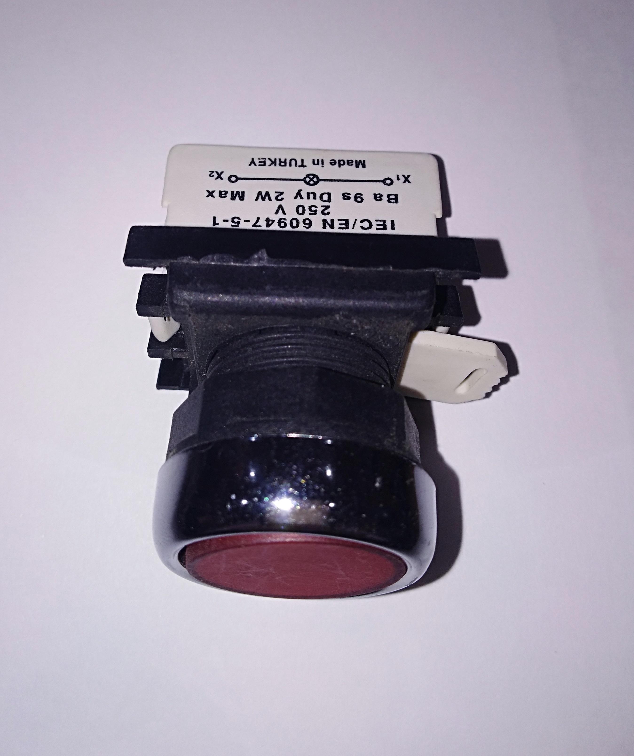 Изображение Кнопки (старт-стоп) с подсветкой 220V