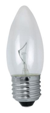 Изображение 1010290 60W E27 Лампочка свеча прозрачная