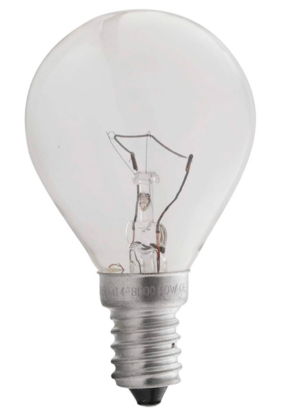 Изображение 1010400  60W E14 Лампочка шар прозрачная