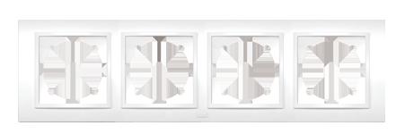 Изображение ZENA белый Рамка 4-ая горизонтальная