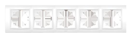 Изображение ZENA белый Рамка 5-ая горизонтальная