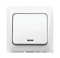 Изображение ALSU белый Выключатель c подсветкой