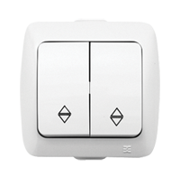 Изображение ALSU белый Выключатель проходной 2 кл