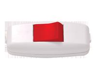 Изображение EL-BI Выключатель навесной (бел-красн)