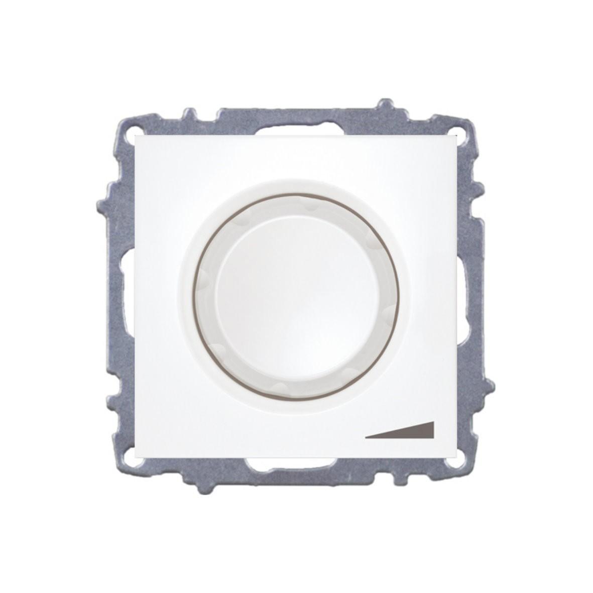 Изображение ZENA модуль белый Выключатель реостат 800W с подсветкой