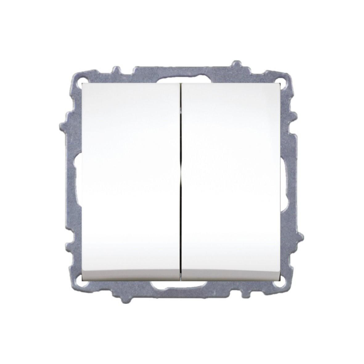 Изображение ZENA модуль белый Выключатель 2 кл