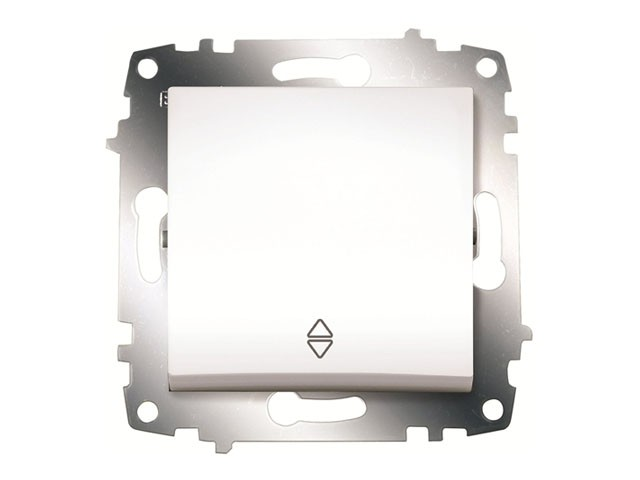 Изображение ZENA модуль белый Выключатель проходной