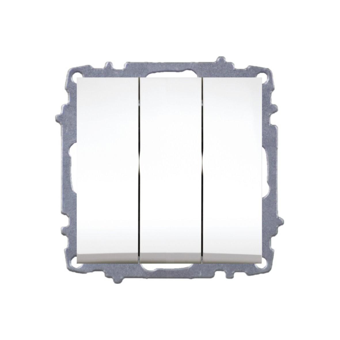 Изображение ZENA модуль белый Выключатель тройной