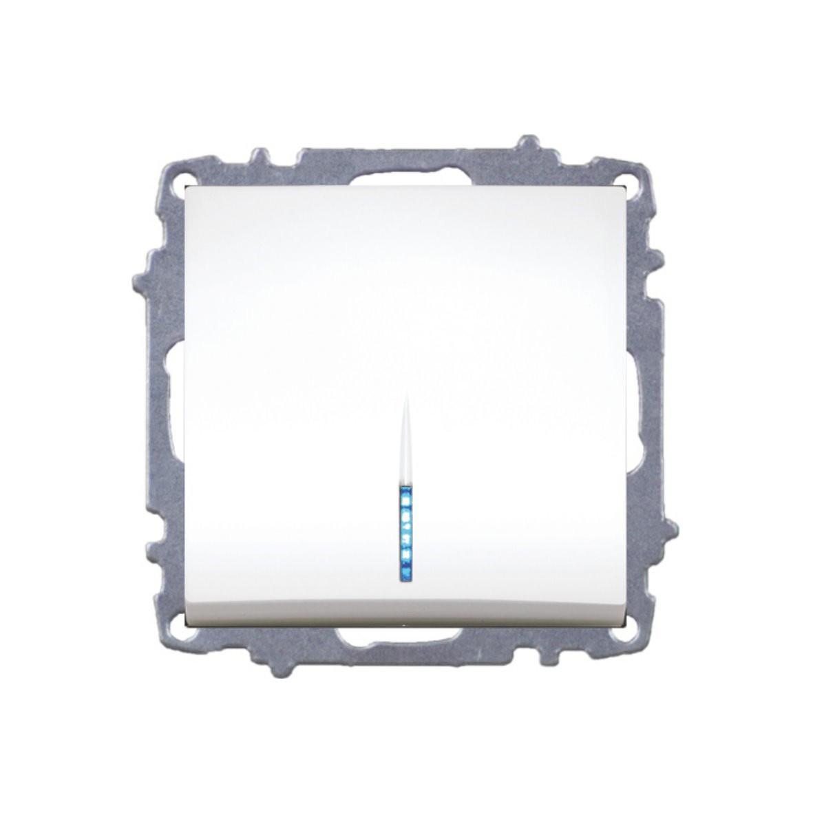 Изображение ZENA модуль крем Выключатель 1 кл с подсветкой