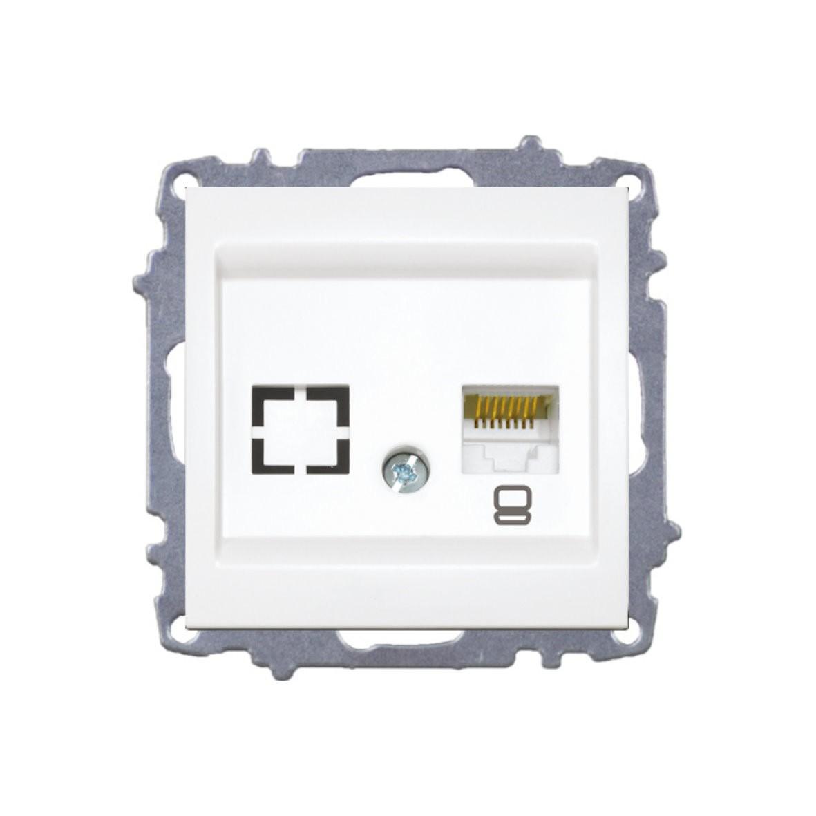 Изображение ZENA модуль крем Розетка компьютерная (1раз Е6)