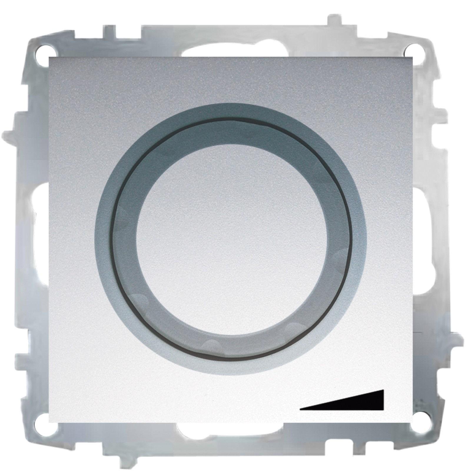 Изображение ZENA модуль серебро Выключат реостат 800W с подсветкой