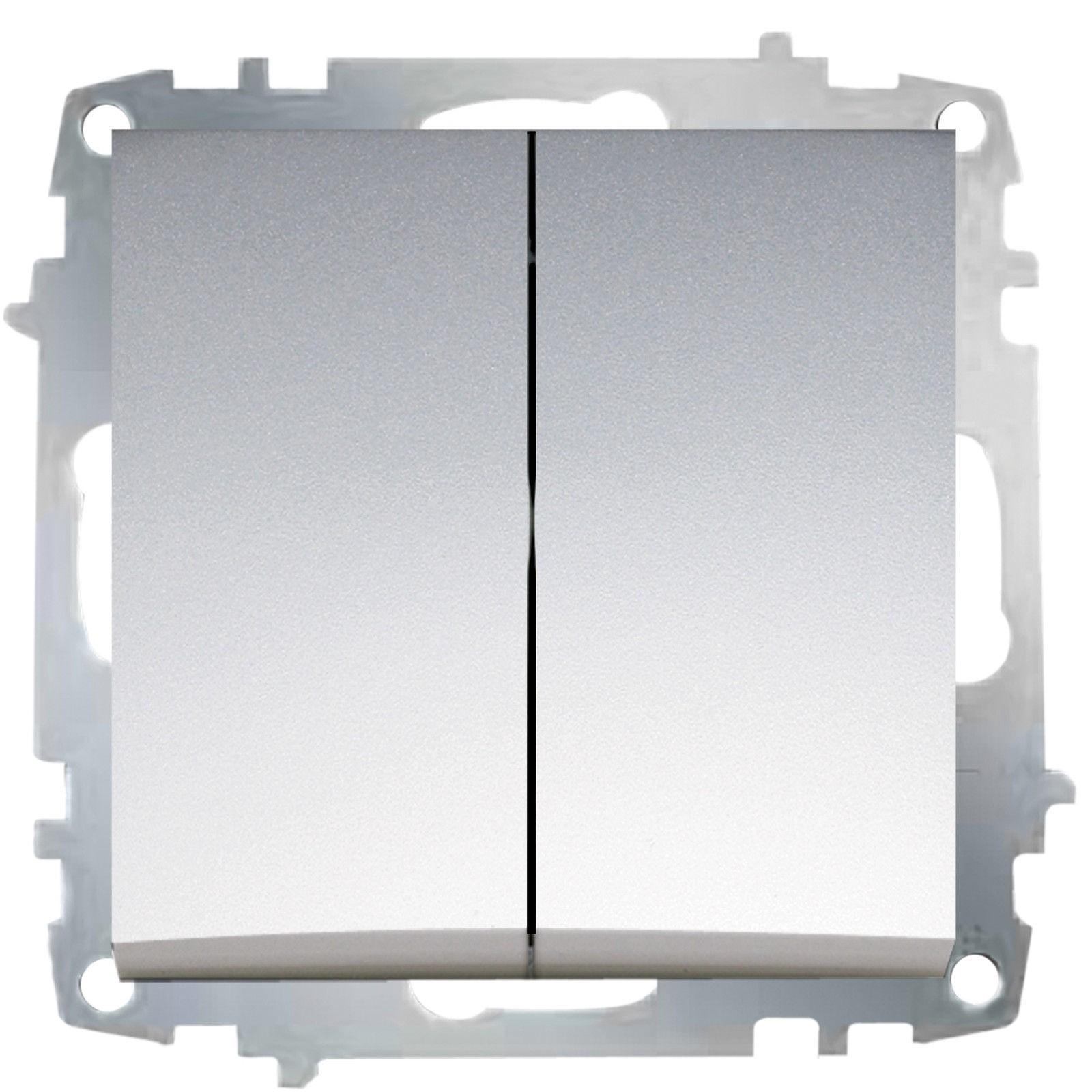 Изображение ZENA модуль серебро Выключатель 2 кл