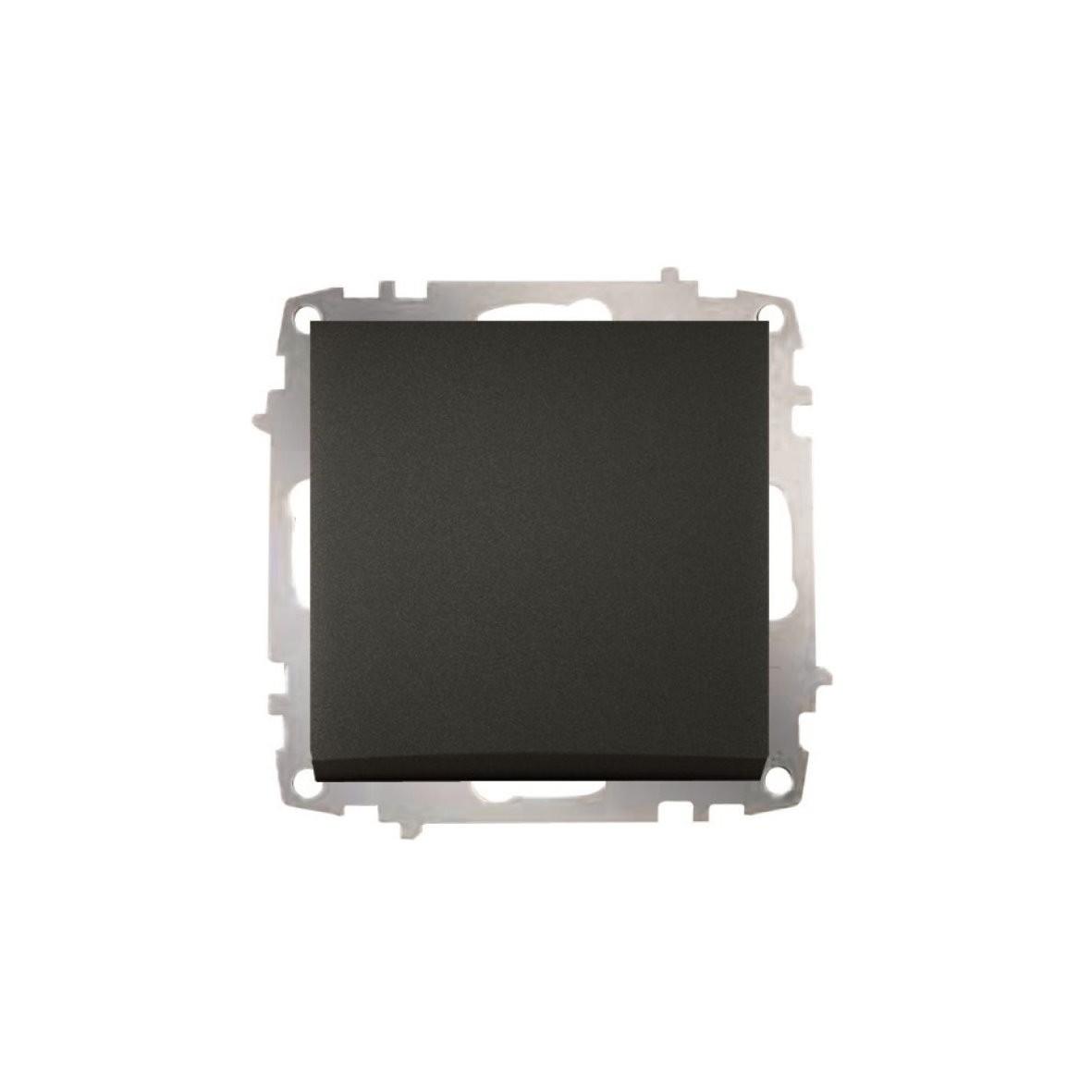 Изображение ZENA модуль черный Выключатель проходной