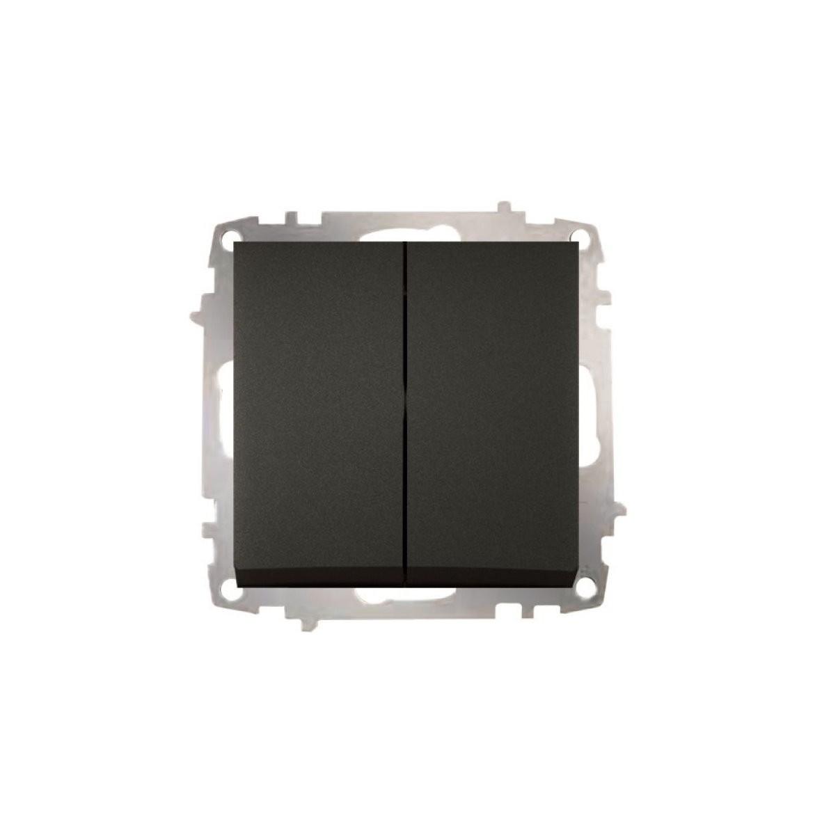 Изображение ZENA модуль черный Выключат проходной 2 кл