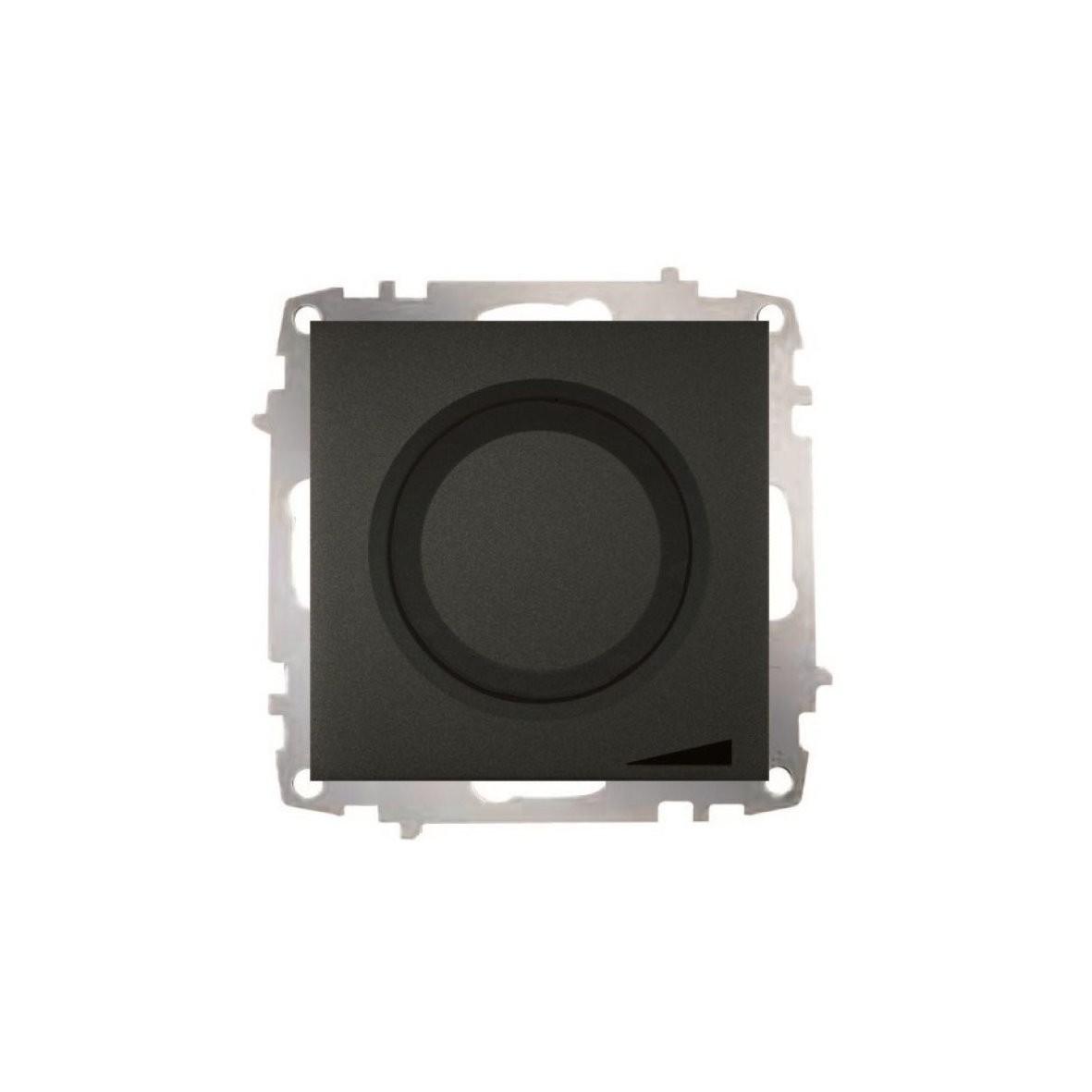 Изображение ZENA модуль черный Выключатель реостат 800, 300W с подсветкой