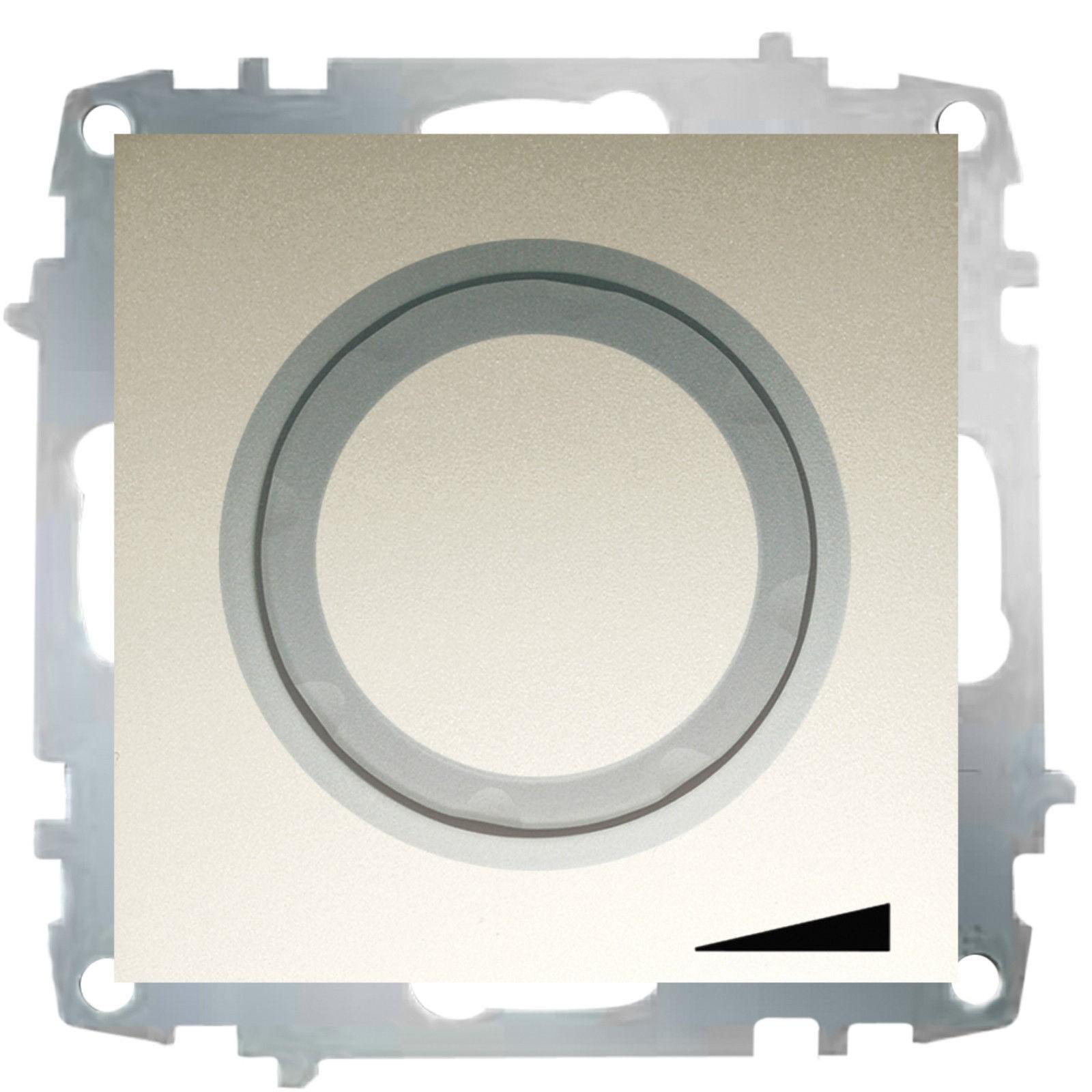 Изображение ZENA модуль титан Выключат реостат 800W с подсветкой