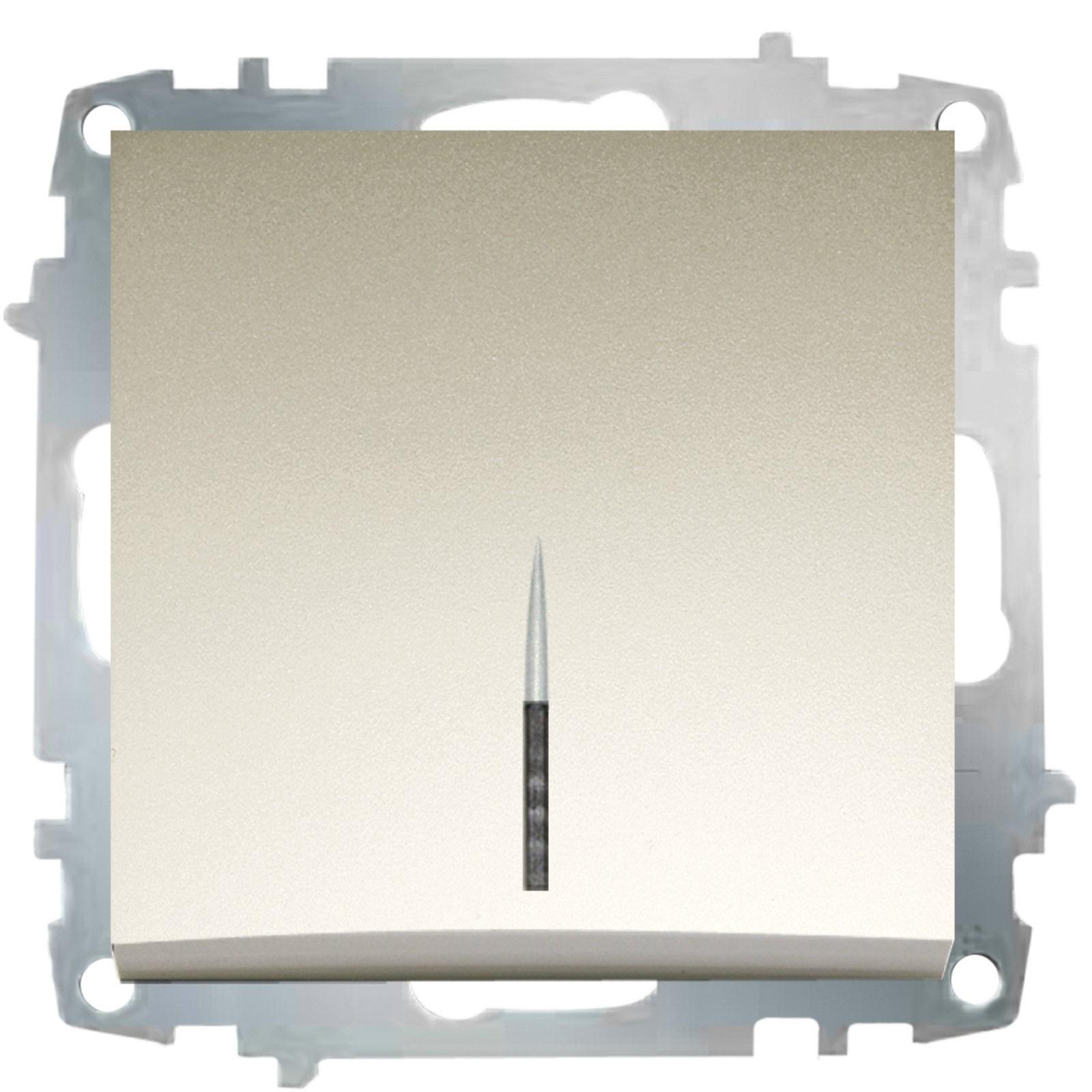 Изображение ZENA модуль титан Выключатель 1 кл с подсветкой