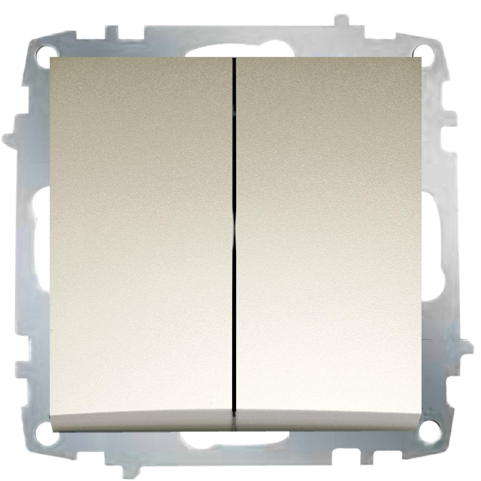 Изображение ZENA модуль титан Выключатель проходной 2 кл