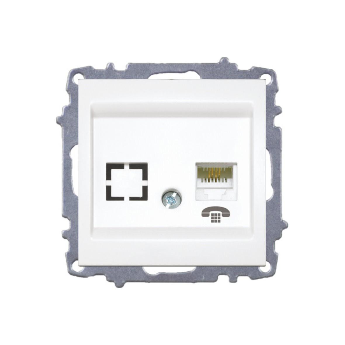 Изображение ZENA модуль жемчуг Розетка телефонная