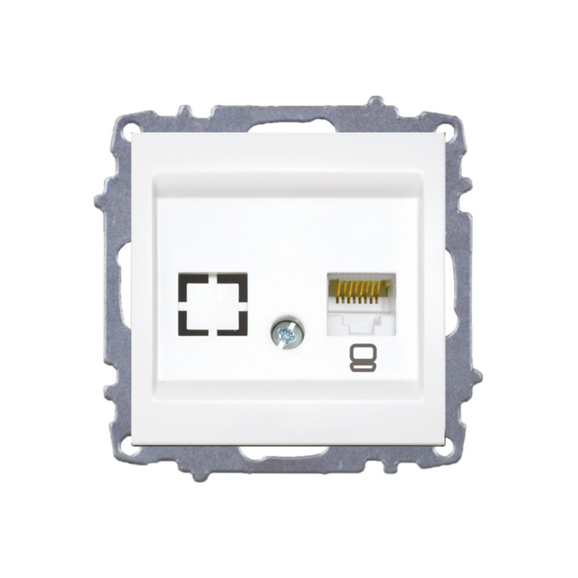 Изображение ZENA модуль вишня Розетка компьютерная /1раз Е6/