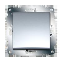 Изображение ZENA модуль серебро Выключатель 1 кл