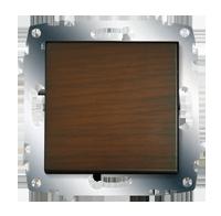 Изображение ZENA модуль темный орех Выключатель 1 кл