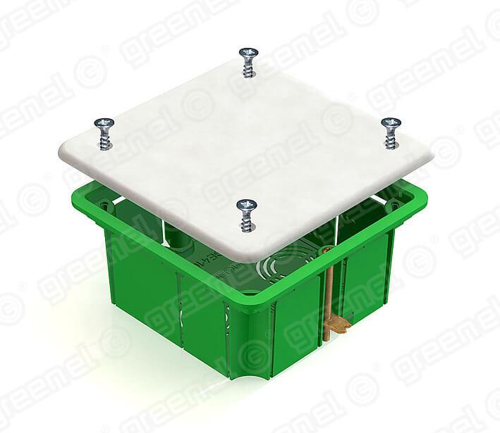 Изображение Коробка распределительная 92*92*45 для полых стен с металл. зажимами (126шт)