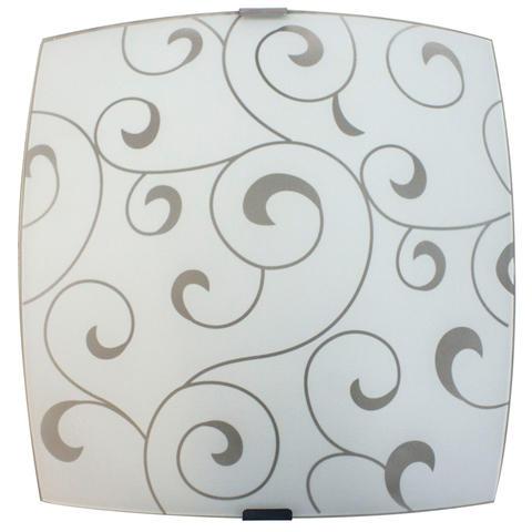 Изображение Морокко 300*300 Свет-к матовый белый /штамп метал../ ИУ