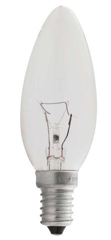 Изображение 1010171/1010170 60W E14 Лампочка свеча прозрачная