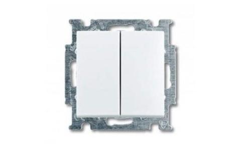 Изображение Basic белый модуль выключатель 2 кл