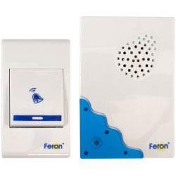 Изображение Звонок электрический дверной, 32 мелодии, белый, синий, E-223