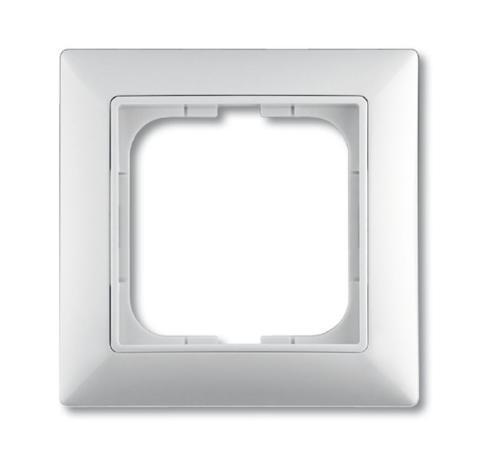 Изображение Basic белый рамка 1 пост с декоративной накладкой