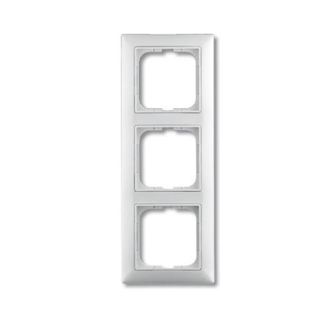 Изображение Basic белый рамка 3 поста с декоративной накладкой