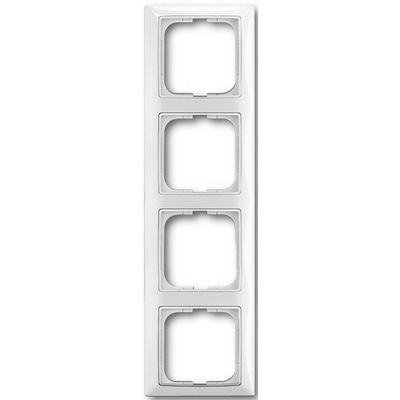 Изображение Basic белый рамка 4 поста с декоративной накладкой