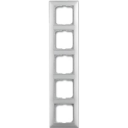 Изображение Basic белый рамка 5 постов с декоративной накладкой