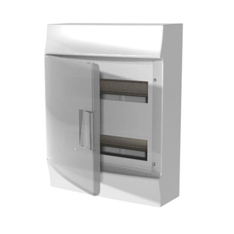 Изображение Бокс настенный Mistral41 24 M прозрачная дверь (с клемм)