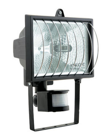 Изображение VT-371 500 W Прожектор галогенный белый  с сенсором и решеткой