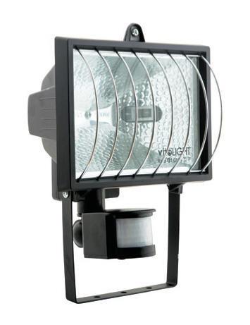 Изображение 3000140 VT-372 500 W Прожектор галогенный черный  с сенсором и решеткой
