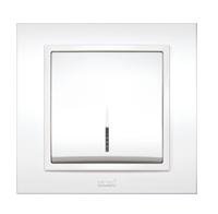 Изображение ZENA белый Выключатель с подсветкой