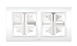 Изображение ZENA белый Рамка 2-ая горизонтальная