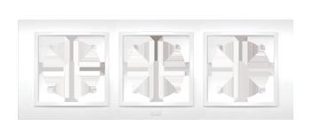Изображение ZENA белый Рамка 3-ая горизонтальная