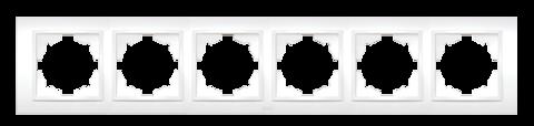 Изображение ZENA белый Рамка 6-ая горизонтальная