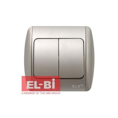 Изображение ZIRVE серебро Выключатель 2 кл