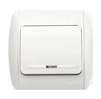 Изображение ZIRVE белый Выключатель 1 кл с подсветкой