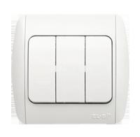 Изображение ZIRVE белый Выключатель тройной