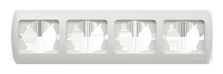 Изображение ZIRVE белая+вставка Рамка 4-я  горизонтальная
