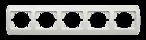 Изображение ZIRVE белая+вставка Рамка 5-я горизонтальная
