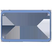Изображение TUNA комплектующие двойные мет синий
