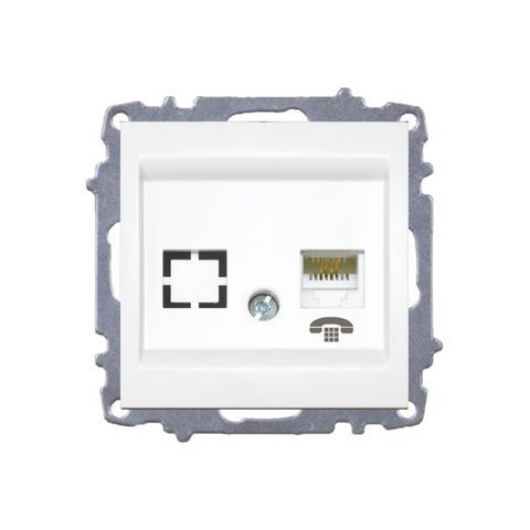 Изображение ZENA модуль белый Розетка телефонная